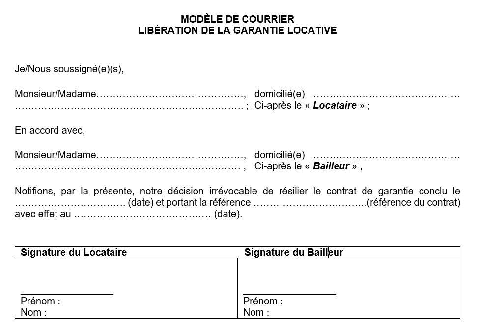 Mietgarantie-Freigabemodell